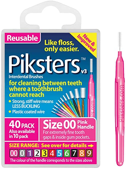 Piksters Interdental Brush 40PK Sizes 00 to 7