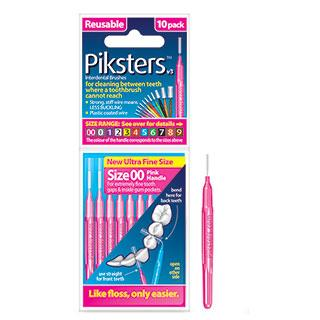 Piksters Interdental Brush 100 Pk Size 00 to 6