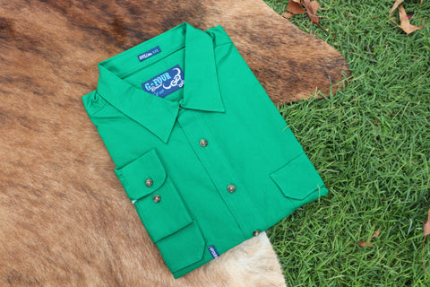 GFOUR BRAND 'The Mackenzie' Women's Half Button Workshirt - Shamrock