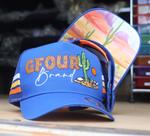 "GFOUR Brand High Profile Trucker Cap - ""Desert"" Royal Blue"