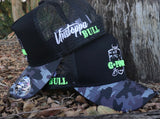 GFOUR Brand High Profile Trucker Cap - STEALTH CAMO - Green