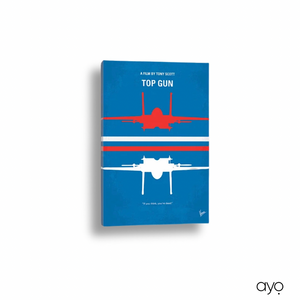 Minimalist Movie Poster on Wrapped Canvas