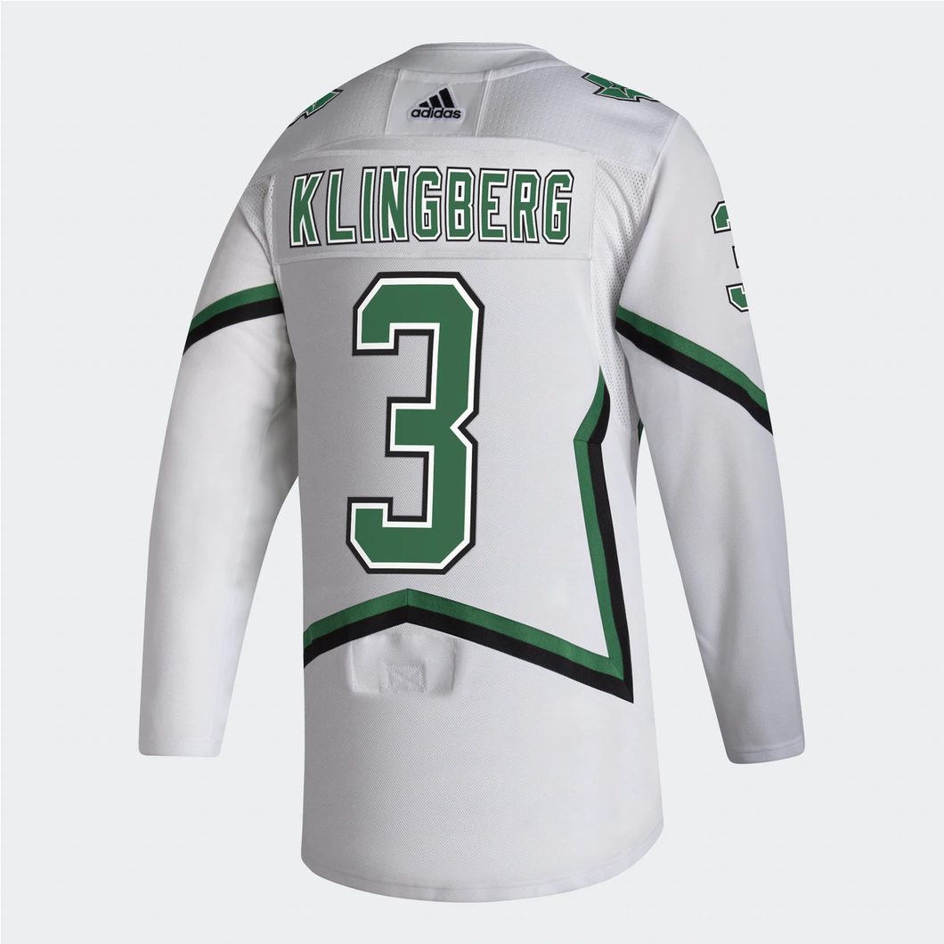 DALLAS STARS ADIDAS REVERSE RETRO JOHN KLINGBERG AUTHENTIC PRO JERSEY