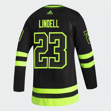 Load image into Gallery viewer, DALLAS STARS ADIDAS BLACKOUT 3RD ESA LINDELL AUTHENTIC PRO JERSEYS