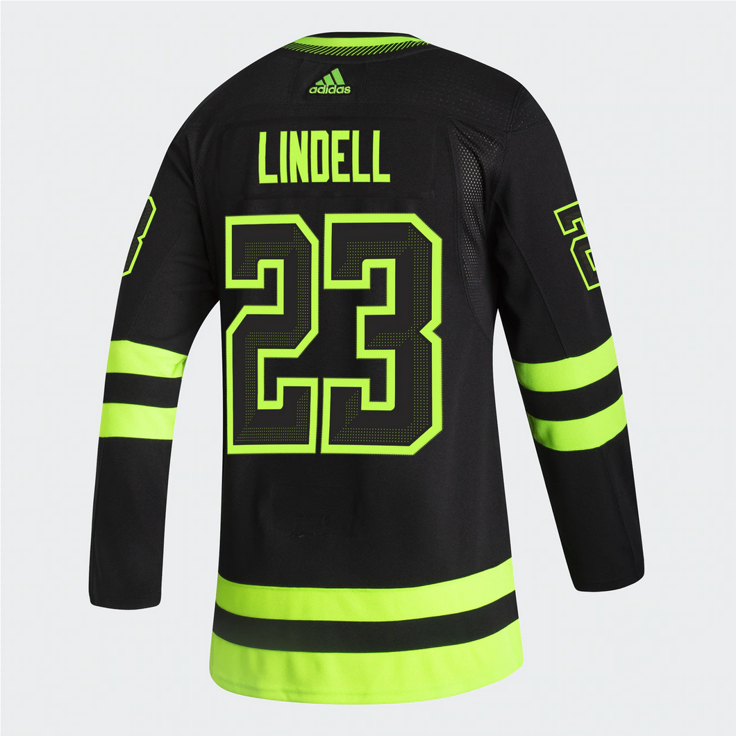 DALLAS STARS ADIDAS BLACKOUT 3RD ESA LINDELL AUTHENTIC PRO JERSEYS