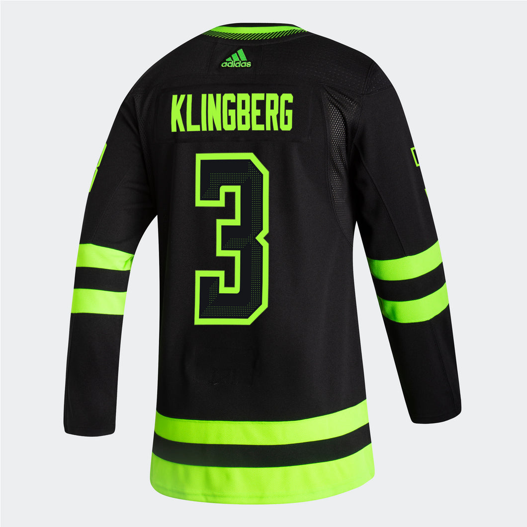 DALLAS STARS ADIDAS BLACKOUT 3RD JOHN KLINGBERG AUTHENTIC PRO JERSEY
