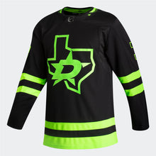 Load image into Gallery viewer, DALLAS STARS ADIDAS BLACKOUT 3RD JOHN KLINGBERG AUTHENTIC PRO JERSEY