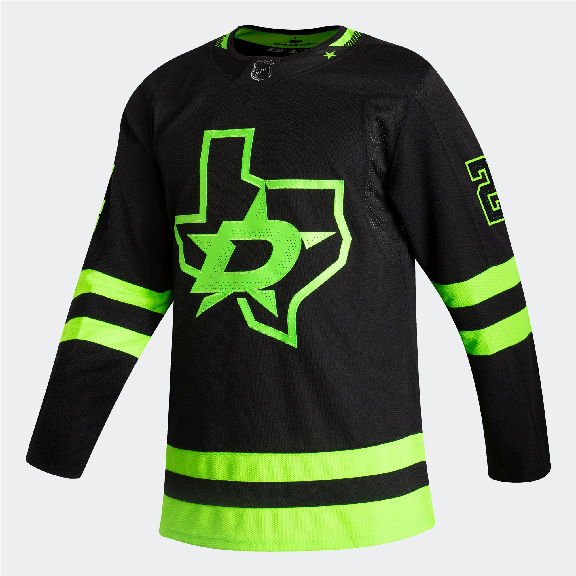 DALLAS STARS ADIDAS BLACKOUT 3RD ROOPE HINTZ AUTHENTIC PRO JERSEY