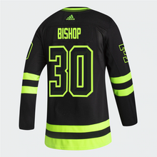 Load image into Gallery viewer, DALLAS STARS ADIDAS BLACKOUT 3RD BEN BISHOP AUTHENTIC PRO JERSEY