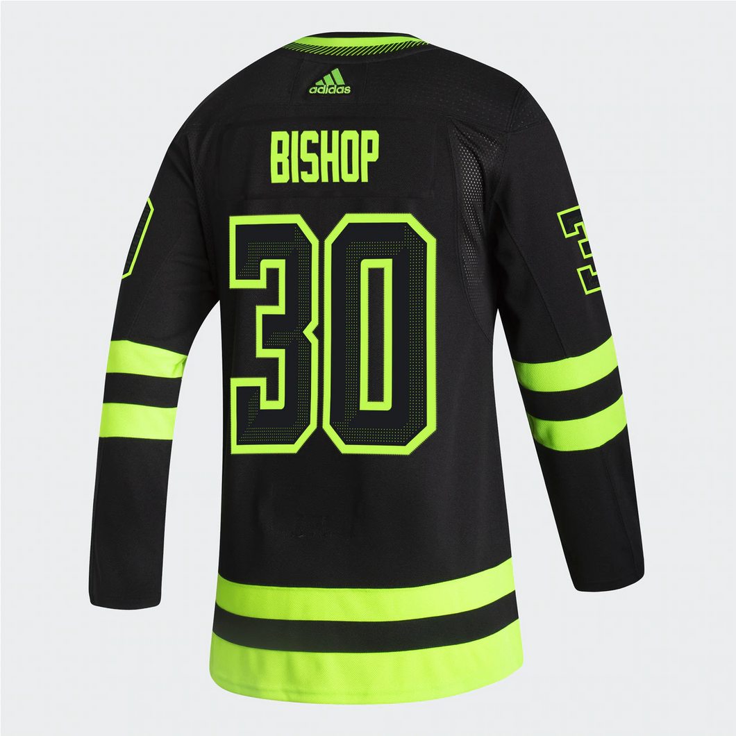 DALLAS STARS ADIDAS BLACKOUT 3RD BEN BISHOP AUTHENTIC PRO JERSEY