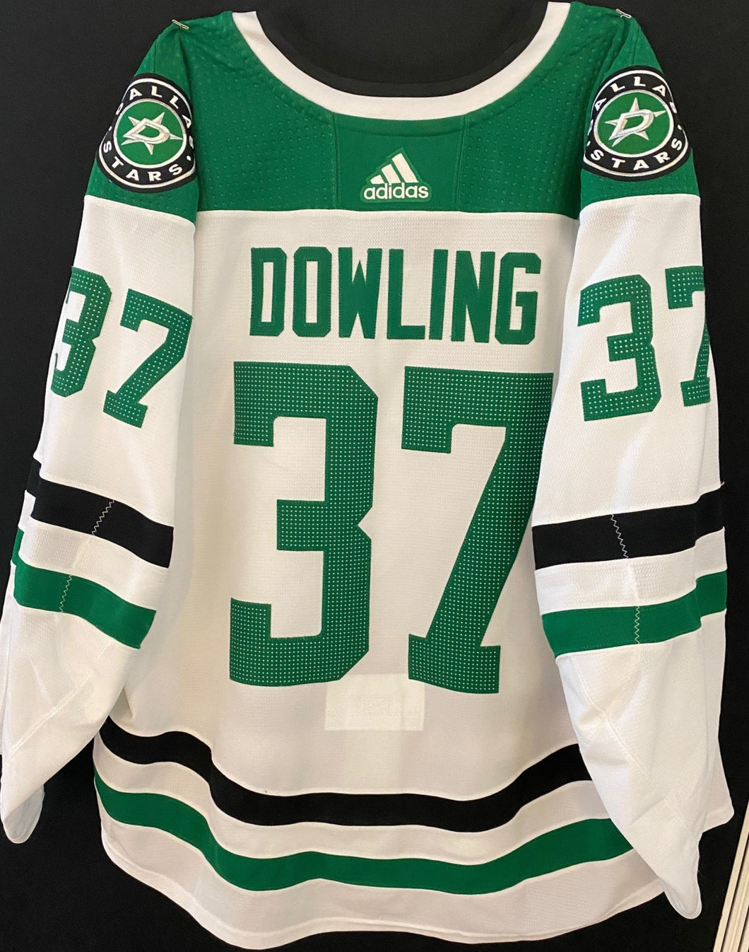 JUSTIN DOWLING 18/19 GAME WORN AWAY JERSEY - SET 3