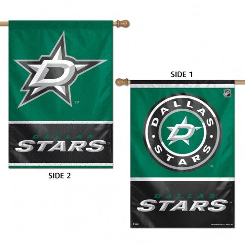 DALLAS STARS VERTICAL 2 SIDED FLAG