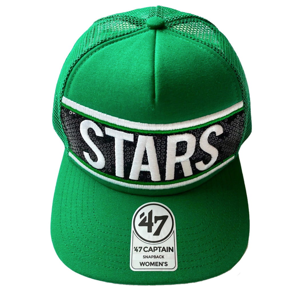 DALLAS STARS 47' BRAND WOMENS SEQUIN SNAPBACK