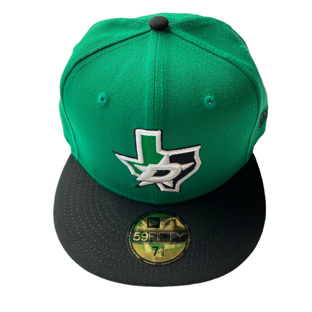 DALLAS STARS NEW ERA FITTED FLAT BILL HAT