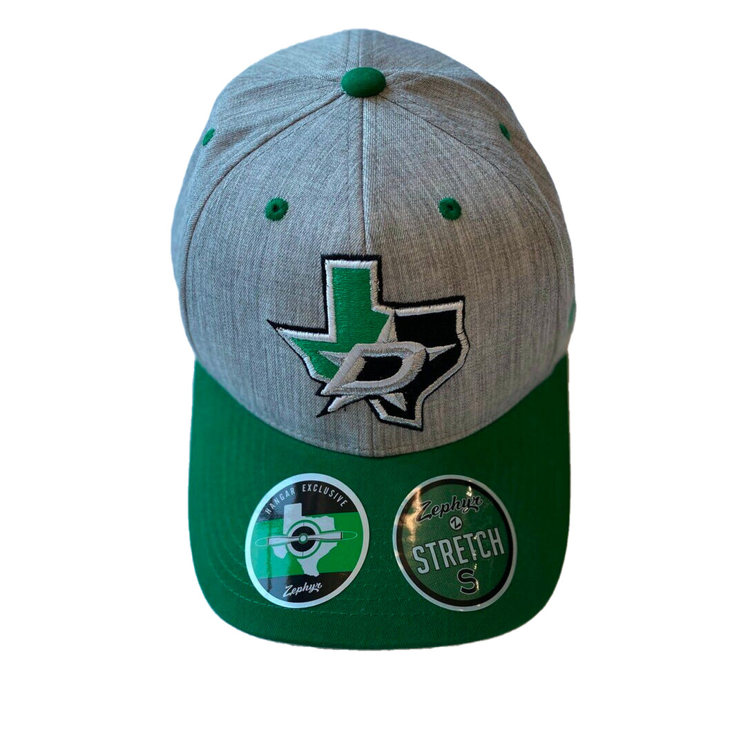 DALLAS STARS ZEPHYR GRAY STRETCH CAP