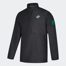 Load image into Gallery viewer, DALLAS STARS ADIDAS BLACK GAME MODE 1/4 ZIP