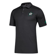 Load image into Gallery viewer, DALLAS STARS ADIDAS BLACK GAME MODE POLO