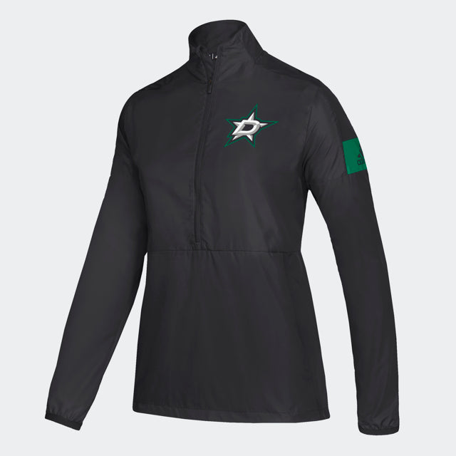 DALLAS STARS ADIDAS W GAME MODE WOVEN 1/4 ZIP