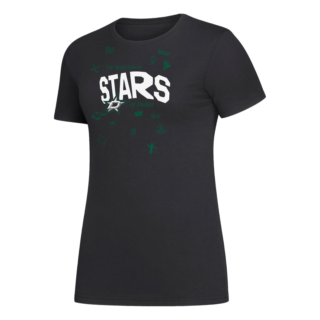 DALLAS STARS ADIDAS WOMENS WORLD FAMOUS S/S