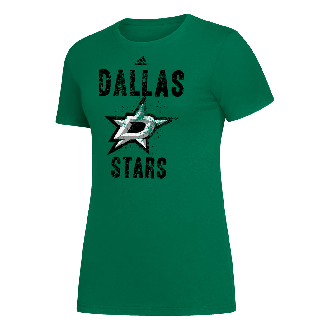 DALLAS STARS ADIDAS WOMENS PIXEL DISTRESS