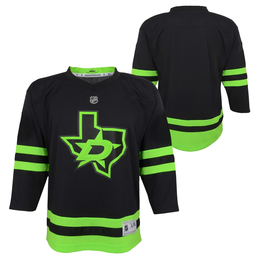 DALLAS STARS OUTERSTUFF TODDLER BLACKOUT 3RD JERSEY