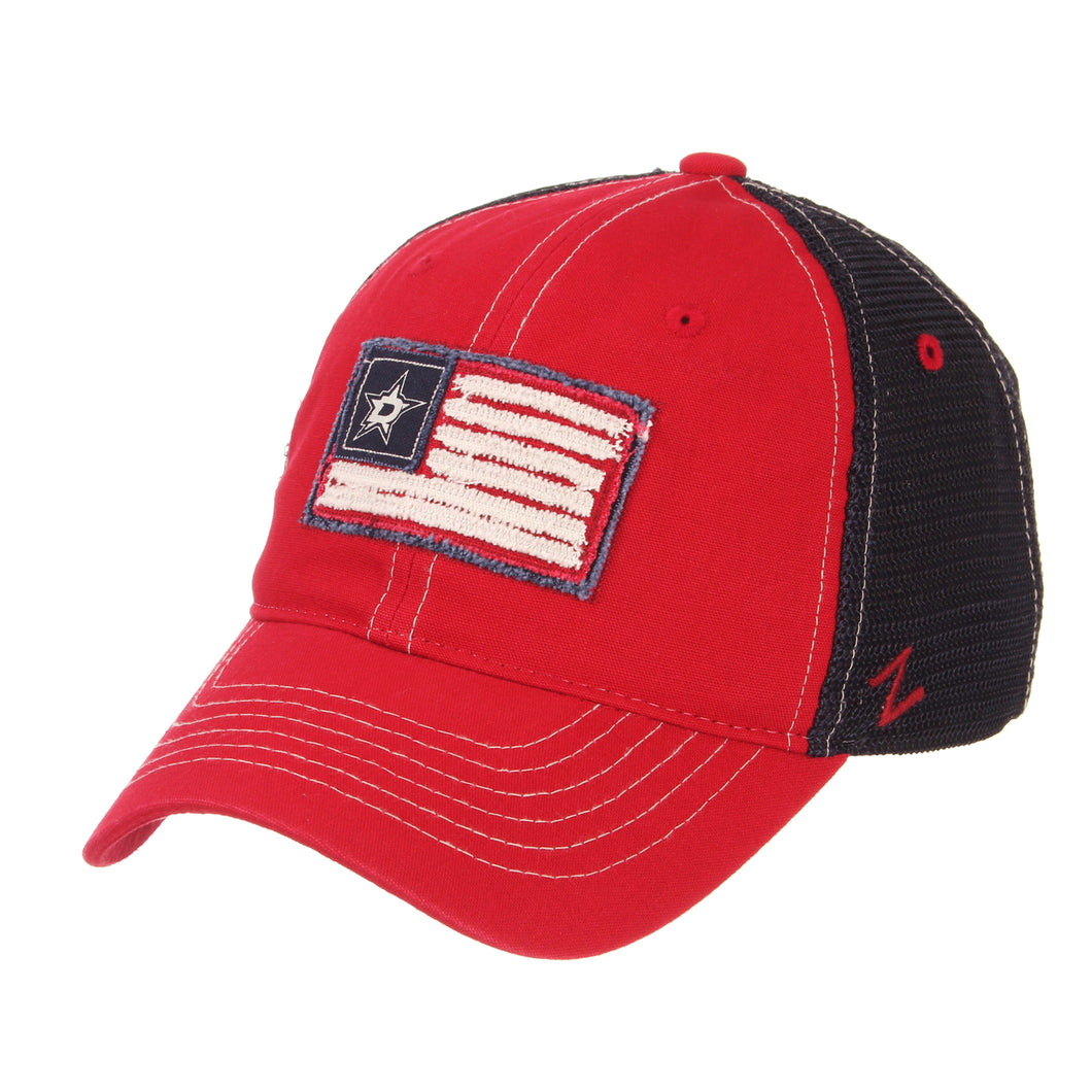 DALLAS STARS YANKEE RED WHITE & BLUE MESH CAP