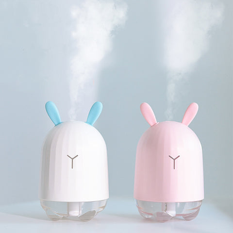 Lovely Rabbit Air Humidifier USB Aroma Diffuser with LED Lamp Mini Ultrasonic Cool Mist Maker Fogger for Office Car Air Purifier