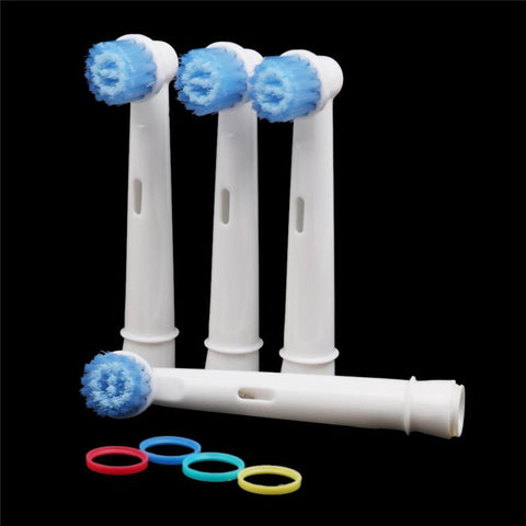 4pcs Soft Vitality Rechargeable Electric Toothbrush Heads Replace For Oral-B