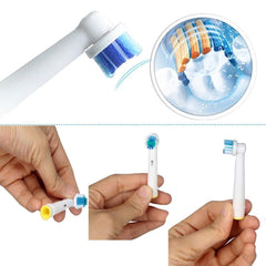 8pcs Electric toothbrush heads soft vitality rechargeable replace oral-b