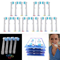 12pcs Fashion Electric Tooth Brush Heads Replacement Toothbrush Soft BristlesToothbrush Heads Replace For Oral-B