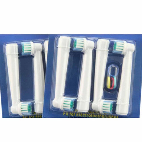 Set of toothbrush heads electric braun oral floss 4pcs