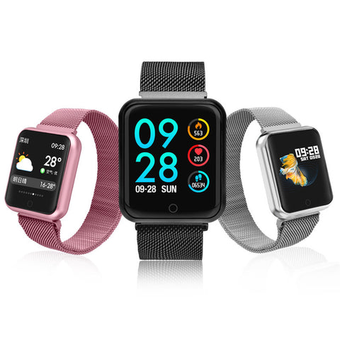 Smart Watch Men Women Blood Pressure Oxygen Heart Rate Monitor Watch Steps Calories Mileage Tracker