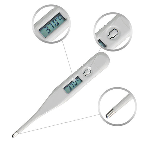 Waterproof Digital Baby Thermometer Child Adult Body Digital LCD Thermometer Temperature Measurement