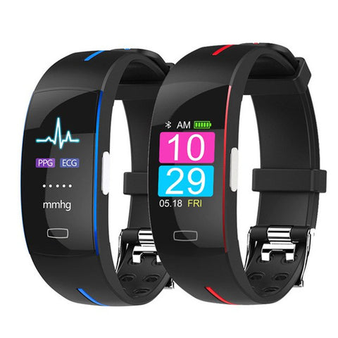 Smart Wrist Band ECG+PPG Measurement Dynamic Heart Rate Monitor USB Charge Fitness Tracker Color Screen Smart Watch