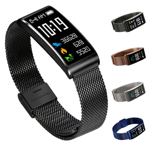 Smart Watch Men Women IP68 Fitness Tracker Smart Bracelet Heart Rate Blood Pressure Fashion Sport Band