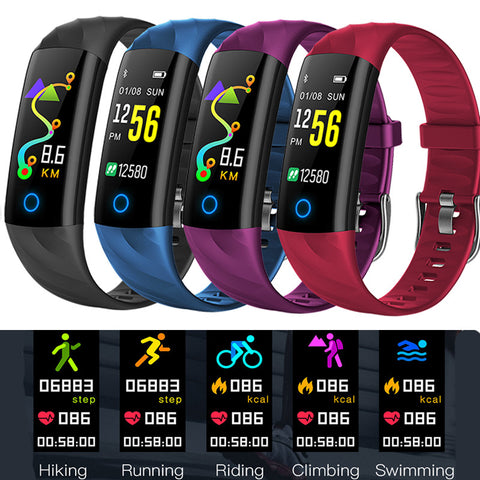 Smart Bracelet Ip68 Waterproof Smart Wristband Bluetooth Smart Band Blood Pressure Heart Fitness Tracker Color Screen
