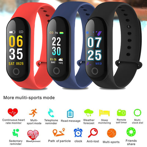 Smart Bracelet Passometer Smart Band Pedometer Blood Pressure Smart Wristbands Fitness Bracelet Waterproof Heart Rate