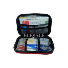 17 Items/64 pcs First Aid Emergency Kit EVA Pouch Car Bike Home Medical Bag Outdoor Sports Emergency Medical Treatment