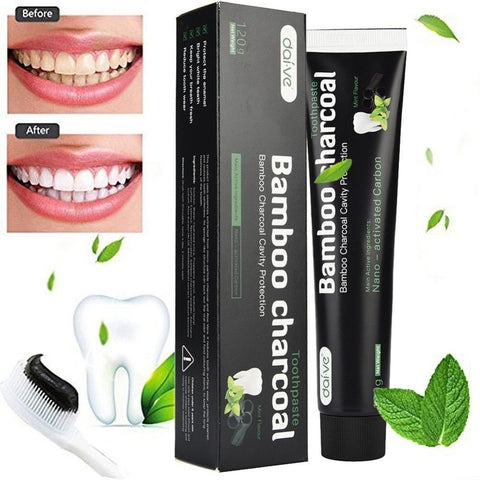 120g Whitening Toothpaste Bamboo Charcoal Teeth Care Black Removes Stains