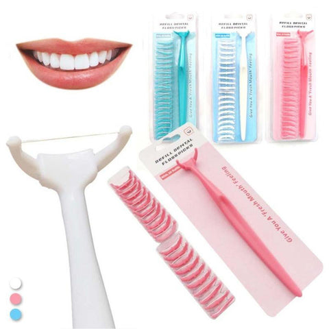 20Pcs Unisex Dental Floss Rods Health Plastic Toothpick Oral Teeth Clean Care