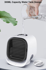 Mini Portable Air Conditioner Home Air Conditioning Humidifier Purifier USB Desktop Air Cooler Fan for Office Room