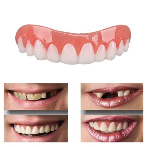 1Pc Cosmetic Teeth Snap On Secure Smile Instant Veneers Dental False Natural