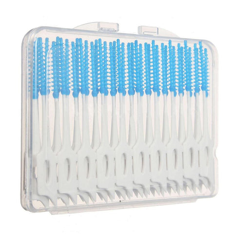 40Pcs Oral Teeth Care Interdental Floss Brush Clean Dental Cleaning Useful Tool