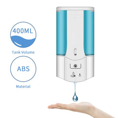 400ml Automatic Soap Dispenser Touchless Sensor Hand Sanitizer Shampoo Detergent Dispenser Wall Mounted For Bathroom Kitchen