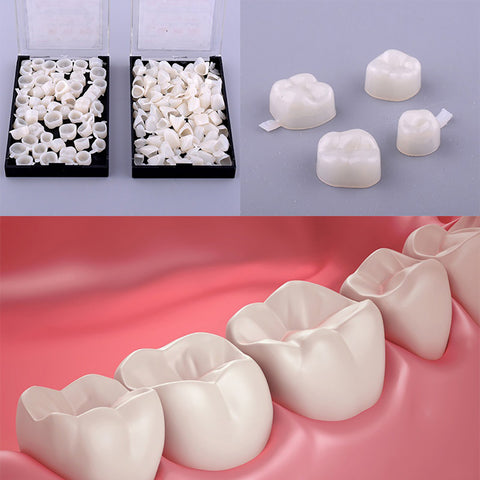 50Pcs Dentistry Oral Dental Temporary Posterior Anterior Teeth Crown Resin Tooth