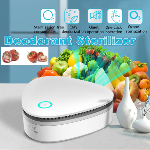 USB Portable Mini Ozone Air Purifier Fresh Deodorant Sterilizer Eliminator  for Car Refrigerator Closets Pet Car