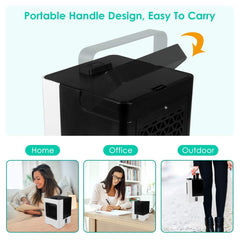 4 in 1 Rechargeable Portable Air Conditioner USB Mini Air Cooler Humidifier Purifier Air Cooling
