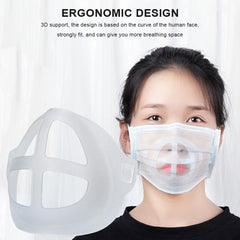 3D Mouth Mask Support Breathing Assist Help Mask Inner Cushion Bracket Food Grade Silicone Mask Holder Breathable Valve