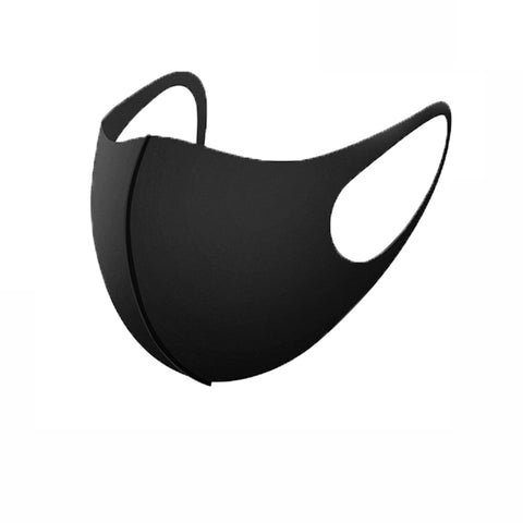 1PC Mouth Mask PM2.5 Anti Haze Black Dust Mask Nose Filter Windproof Muffle Bacteria Fabric Cloth Respirator Face Care