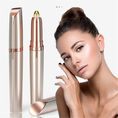 1pc Electric Eyebrow Trimmer Painless Eye Brow Epilator Mini Eye Brow Shaper Shaver Razor Portable Facial Hair Remover for Women